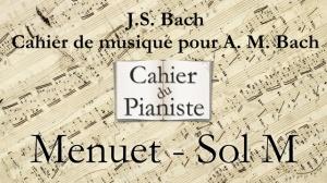 Bach -1- Menuet