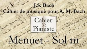 Bach -3- Menuet Solm