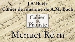 Bach -10- Menuet ré m