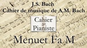 Bach -11- Menuet FaM