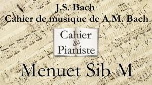 Bach -13 - Menuet Sib M