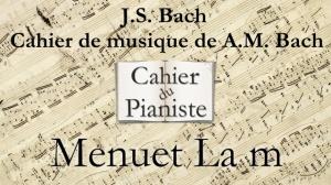 Bach -17 - Menuet Lam