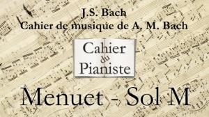 Bach -5- Menuet Sol M